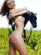 Young Pussy, Awesome Angel with a Horse