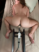 Kink Pics: Young hot blonde gets railed in her tight pussy by fast machines.