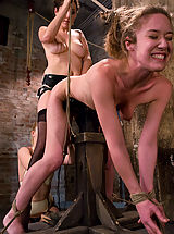Clitoris, Two hot doms gang up on Jade Marx and force her to cum with electricity!!!