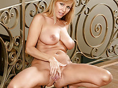 Stunners, Nicole Moore gets hot knowing that the rabbit toy is about to venture in her depths