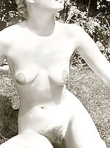 Vintage Babes: Beautiful Hirsute Girls with a Focus on Hairy Pussy & Armpits Leg Spreading & Tit Squeezing - Vintage Pornography