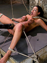 Fetish Babes: Hot 20 year old bound and made to cum until she almost passes out