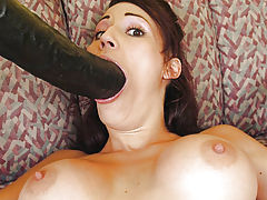Hot Bod, Layla fucking a two foot long brutal dildo
