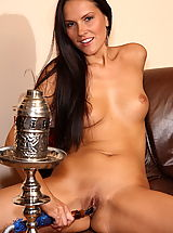 pussy up close, charlie angel 04 tight pussy stuffed with shisha and dildos