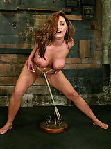Big.Tits Babes: Huge boobed Christina Carter is bound and forced to cum.