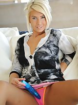 Panty Babes: Danica gets naked and plays