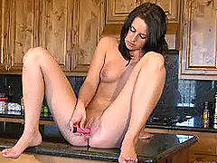 Hot Bod, Samantha plays with her dildo