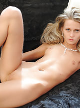 alsscan, Amazingly slender blonde babe giving her best as a nude model. Fantastic thin body with super tiny breasts. Juicy collection.