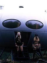 Amazing retro spacecraft threesome sex story
