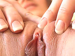 Black Pussy, Dani squeezes her pussy together