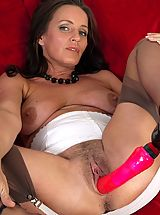 Sex Toy Babes: Marlyn - Hairy muff girdle gal!