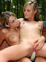 nadia taylor, paris parker 04 forest pool lesbo sex