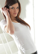 Presenting the web debut of tall, beautiful brunette model Kaylee! She reveals it all for the first time - only on X-Art.