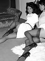 Vintage Pussy: The Sweetest Vintage Nylon And Underwear Fetish Photos Of 1950-1960 From VintageCuties.com