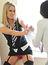 Sexy Naked Girl, Secretaries in High Heels Candice Collyer and Kayleigh Williams 2 in October 2011