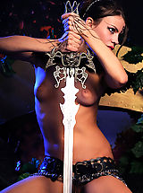 Fantasy Babes: Naked gorgeous warrior naked with the steel sword