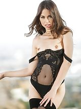 Riley Reid, Jenna Sativa Sinful Wife reveals her bare fun bags, draws down her lingerie and spreads her limbs and hand fucks her moist cunt