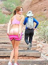 all ladies shaved, Hannah the nude hiker