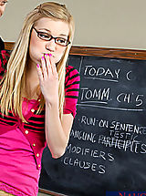 Nicole Ray gets caught cheating, so she fucks her teacher Otto Bauer to get out of trouble.