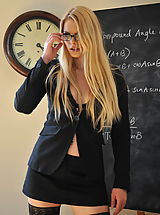 Secretary Babes: Amy Alexandra and Miss Elise Nude at St. Mackenzies School