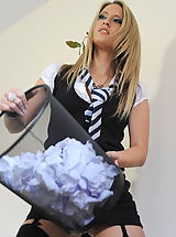 WAM Babes: Secretaries in High Heels Candice Collyer and  Messy Classroom in April 2011