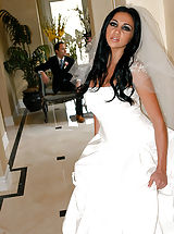 Audrey Bitoni being the cock loving slut she is gets one last fuck before tying the knot.