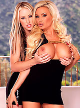 Suze Randall Pics: Busty blonde mega-babes Diamond Foxxx and Carolyn Reese strip each other down for some luscious lesbian lovin'!