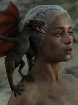 Fantasy Babes: Game of Thrones Girls queen of the dragons nude