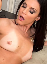 India Summer,Seduced By A Cougar,India Summer, Bill Bailey, Cougar, Stranger, Bed, Bedroom, Dresser, Ass licking, Average Body, Ball licking, Big Dick, Black Hair, Blow Job, Brown Eyes, Caucasian, Cum in Mouth, High Heels, Masturbation, Mature, Outie Puss