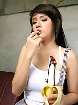 Teen Babes: Asian Women nancy lin 01 banana erect nipples