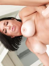 EroticaX Pics: Mick Blue, Veronica Avluv Pretty Babe shows her uncovered cans, pulls down her panties and spreads her limbs and hand fucks her tight-fitting crotch