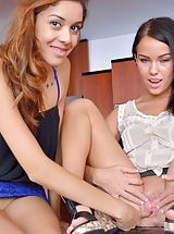 Wet Pussy, Naked Babe Megan and Sophia Mutual Exploration