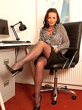 Secretary Babes: Marlyn- Frustrated Pantyhose Secretatry