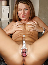 Tight Pussy, Euro Beauty Angel Snow Gaping Pussy with Speculum