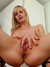 wet slit, Carrie wants one to cum squeeze her nice firm boobies!