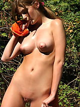 faye reagan 02 puffy nipples forest
