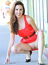 UpSkirts Babes: Lola the lady in red