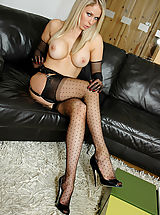 Nylon Candi Pussy: Jamie's Stiletto Heel Fuck - Jamie masturbates with her high heels and nylon gloves