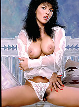 Pussy Babes: Half Cherokee and half Irish beauty Hyapatia Lee shows you what's hiding under her sexy nightwear.