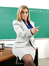 Hot Naked, Sara Jay shows her student what it's like to fuck a teacher with huge tits.