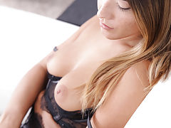 FTV Video, Freckled beauty Eva Lovia dresses in lacy lingerie to seduce her man into a wild fuckfest in her landing strip pussy